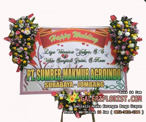 Bunga Papan Wedding Surabaya   Printing   PWSBY-02